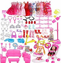 EPRHAN 118 Pcs Doll Clothes Shoes and Accessories