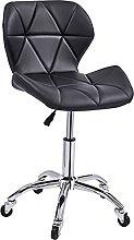 EPYFFJH Bar Stool Chair with Wheels and Back  