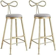 EPYFFJH Bar Stool with Footrest and Back,