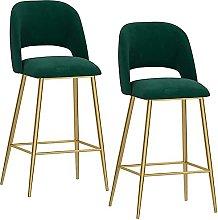 EPYFFJH Bar Stools with Backrests and Footrests