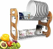 Eqons 2-Tier Dish Rack and Drain Board, Kitchen