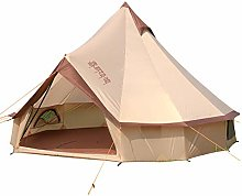 EQS Bell Tipi Tents,3-10 Person Round Teepee