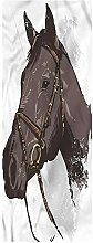 Equestrian Area Runner Rug, 2'x6', Wild