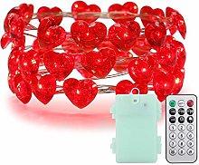 ER CHEN Heart String Lights Valentine's Day