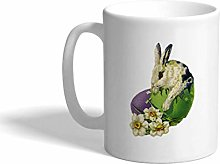 eramic Coffee Mug Rabbit Into an Egg Easter White