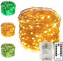ErChen Battery Operated Dual-Color Led String