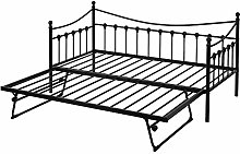 Eren 3FT Solid Sofa bed in Black, Metal Daybed
