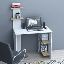 Eren Desk with Shelves - for Living Room, Bedroom,