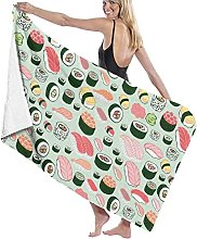 ERER Home Textile Towel Adult Japanese Sushi