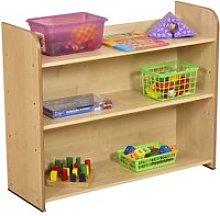 Ereve 3 Shelf Bookcase, Maple