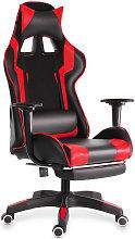 Ergonomic Gaming Chair Swivel Recliner Leather