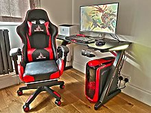 ERGONOMIC Gaming Desk 120×60 cm RGB Gaming Table
