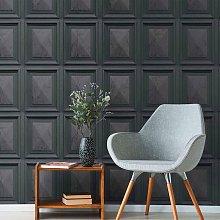 Erismann Marble Wood Panel Wooden Frame 3D Effect