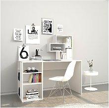 Ermes Desk - with Integrated Bookshelf, Shelves -