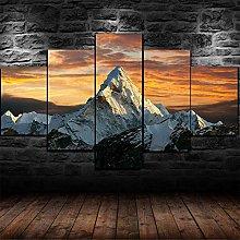 ERSHA Framed Nature Mountain Top Mount Everest