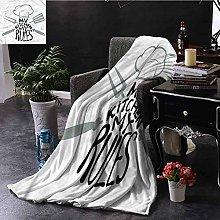 ERshuo Black And White Orange Throw Blanket My