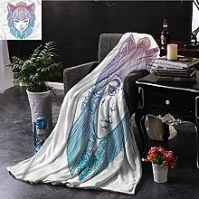 ERshuo Boho Down Throw Blanket Spiritual Artwork