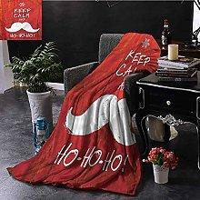 ERshuo Christmas Orange Throw Blanket Keep Calm