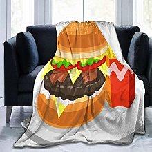 ERshuo Micro Fleece Plush Soft Baby Blanket Burger
