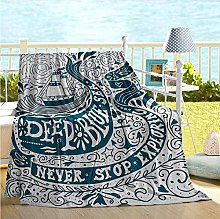 ERshuo Nautical Decor Baby Blankets For
