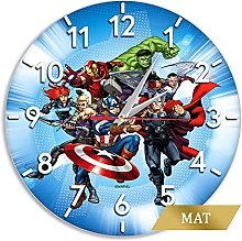 ERT - Avengers Marvel® Blue Matt Finish Wall Clock