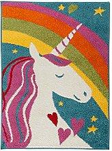 eRugs Modern Play Days Unicorn Rainbow Kids