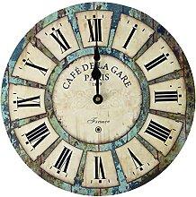 Eruner 14-inch Paris French Style Wood Clock,