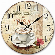 Eruner Lovely Italian Style Round Clock, Vintage