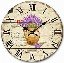 Eruner Retro Rustic Silent Wall Clock, Old