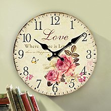 Eruner Rustic Floral Clock Clock, 12-inch Europe