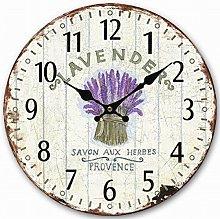 Eruner Silent Kitchen Wooden Wall Clock, Retro