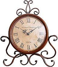 Eruner Vintage Mantel Clock, Classy Country Desk