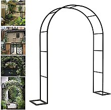 ErZhuiZi Metal Garden Arbor Arch Iron Frame Garden