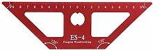 ES-4 Aluminum Alloy Woodworking Scriber 45 Degree