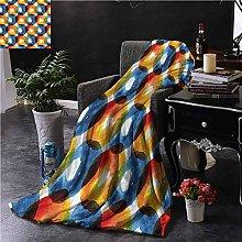 Escomdp Modern Sherpa Throw Blanket Watercolor