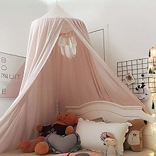 ESGT Baby Children Bed Canopy, Round Dome Cotton
