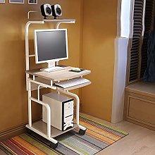 ESGT Computer Desk with Shelves Mobile Laptop