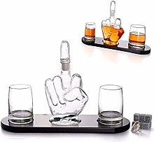 ESGT Middle Finger Novelty Whisky Decanter, 2