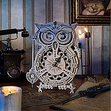 ESGT Owl Clock Kit, 3D Wooden Puzzle for Adults,