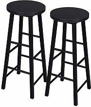eSituro Bar Stools Black Barstools Set of 2 Solid