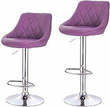 eSituro Bar Stools Set of 2 Purple Breakfast Bar