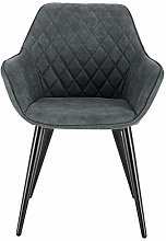 eSituro Grey Dining Chair Fabric Classic Bed Chair