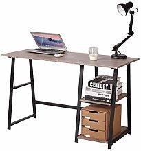 eSituro Grey Office Desk Home Corner Desk with 2