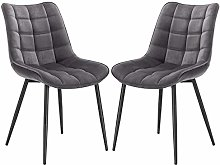 eSituro Modern Dining Chairs Set of 2 Comfy Velvet