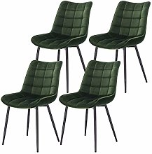eSituro Modern Dining Chairs Set of 4 Comfy Velvet