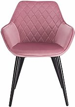 eSituro Pink Dining Chair Velvet Classic Bed Chair