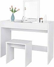 eSituro White Dressing Table Bedroom Corner