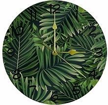 Eslifey Dark Green Tropical Leaves Pattern Battery