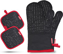 Esonmus - Cotton Silicone Oven Mitts Heat
