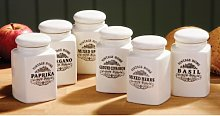 Especias Vintage Home Spice Jars Set of 6 Cream